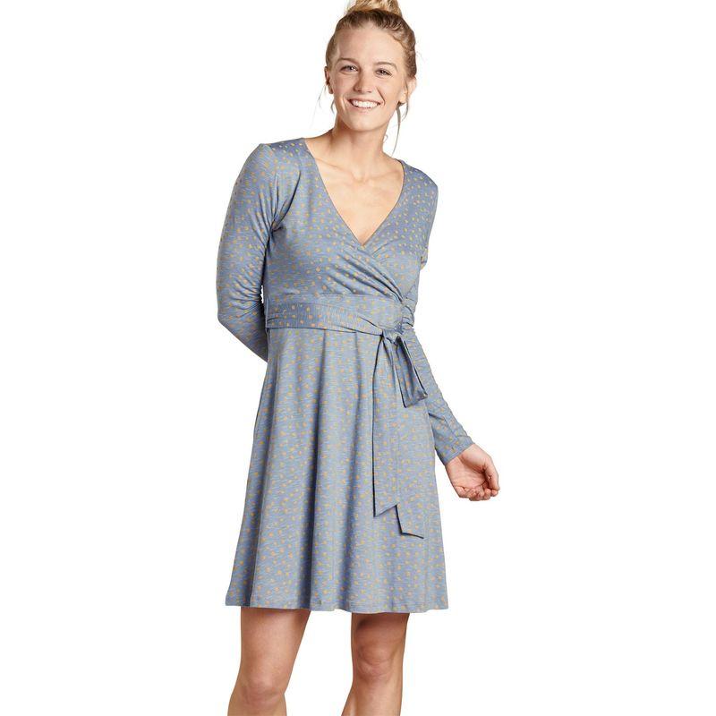 トードアンドコー レディース ワンピース トップス Womens Cue Wrap Long Sleeve Dress XS - Flint Stone Dot Print