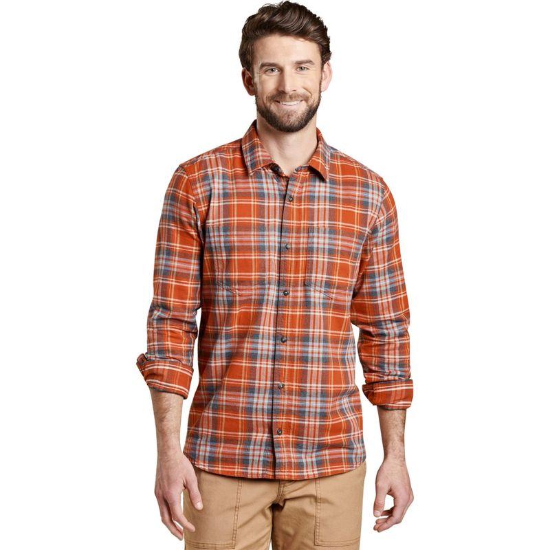 トードアンドコー メンズ シャツ トップス Mens Flannagan Long Sleeve Shirt S - Ketchup