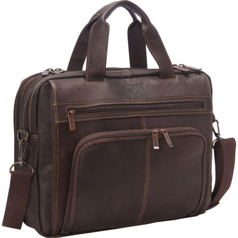ケネスコール メンズ スーツケース バッグ Out Of The Bag - Colombian Leather Expandable Computer Case Brown