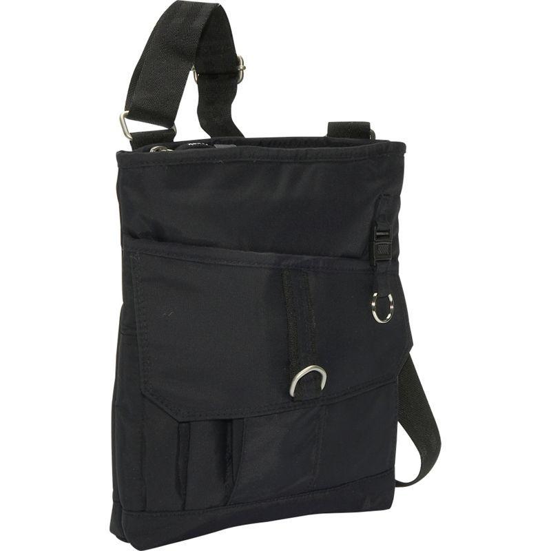 デレクアレクサンダー メンズ ボディバッグ・ウエストポーチ バッグ Top Zip Front Flap Organizer Black