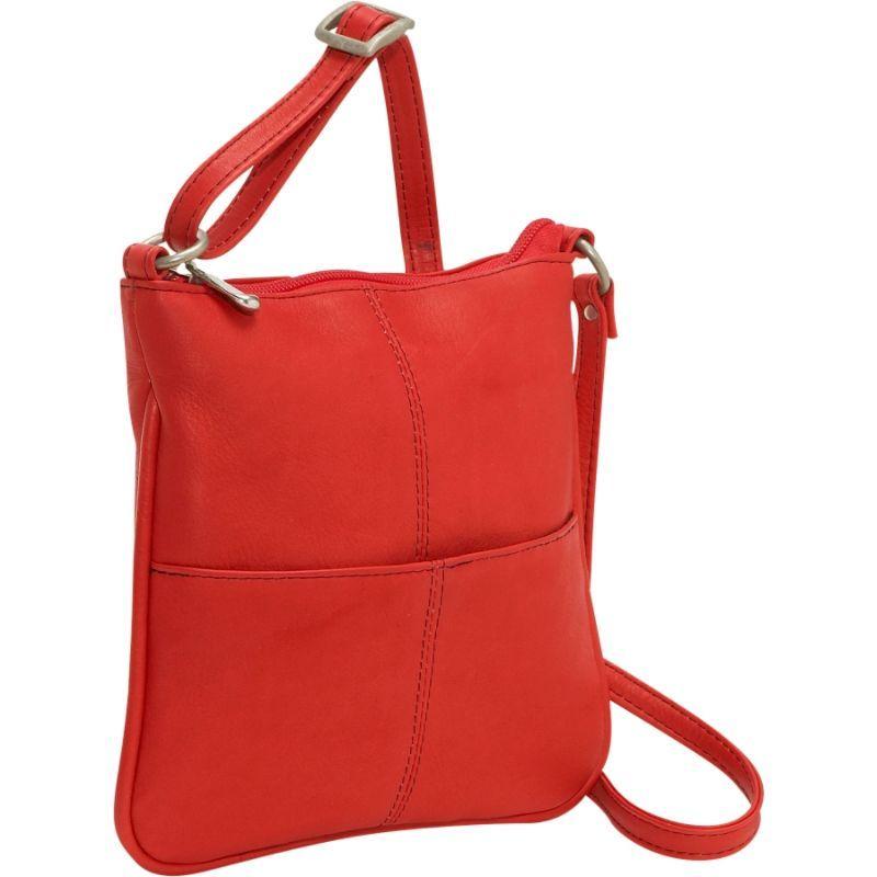 ルドネレザー メンズ ボディバッグ・ウエストポーチ バッグ Front Pocket Cross Body Red