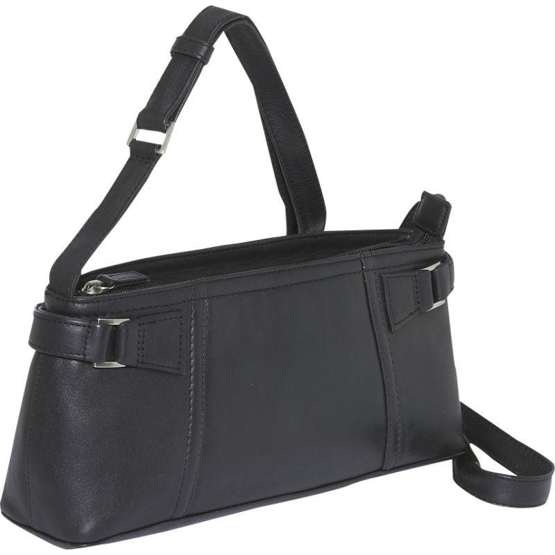 デレクアレクサンダー メンズ ショルダーバッグ バッグ EW Inset Top Zip Black