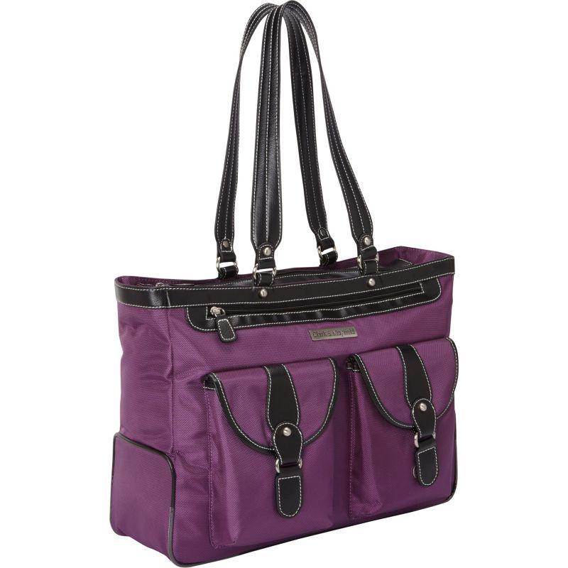 クラークアンドメイフィールド メンズ スーツケース バッグ Marquam Laptop Handbag 18.4 Purple