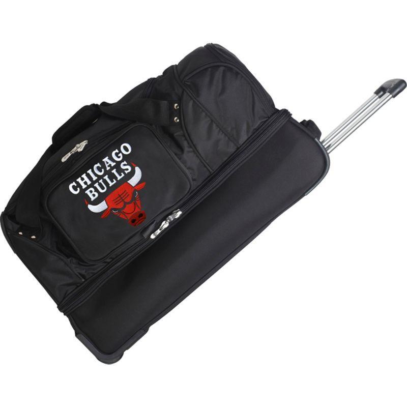 デンコスポーツ メンズ スーツケース バッグ NBA 27 Drop Bottom Wheeled Duffel Bag Chicago Bulls