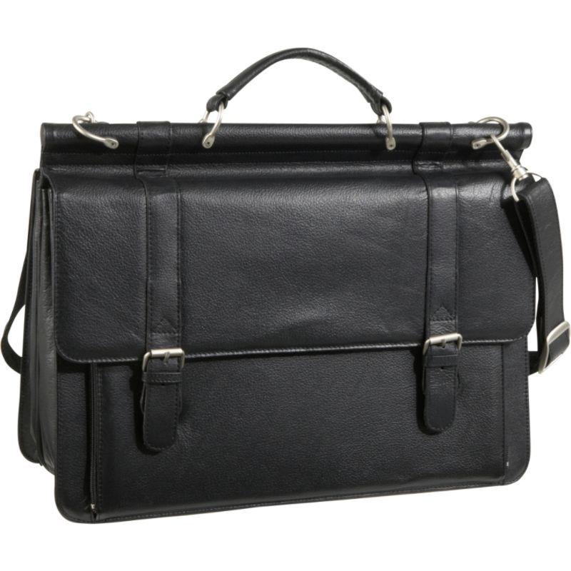アメリ メンズ スーツケース バッグ Leather Executive Briefcase Black