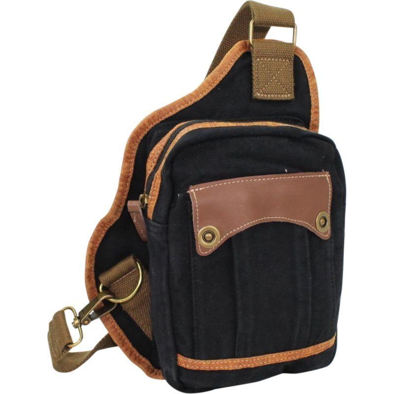 ヴァガボンドトラベラー メンズ ショルダーバッグ バッグ Small Canvas Satchel Shoulder Bag Black