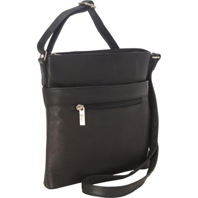 ロイスレザー メンズ ボディバッグ・ウエストポーチ バッグ Vaquetta Triple Zip Crossbody Bag Black 36