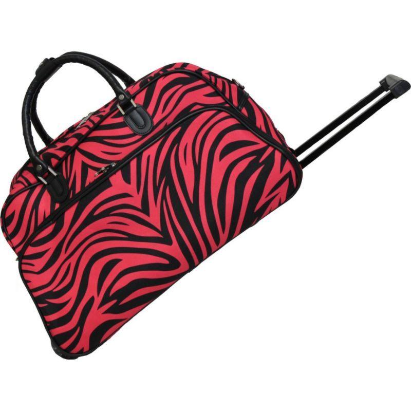 ワールドトラベラー メンズ スーツケース バッグ Zebra 21 Rolling Duffel Bag Fuchsia Black Zebra