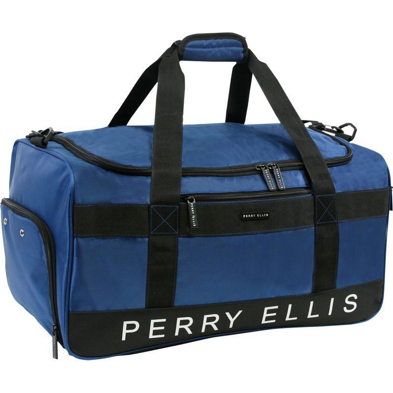ペリーエリス メンズ スーツケース バッグ Medium Weekender Duffel Bag with Shoe Pocket Navy