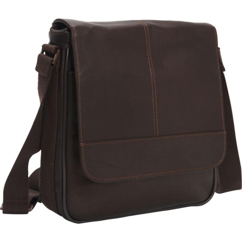 ケネスコール メンズ ショルダーバッグ バッグ A New Bag-inning Leather Tablet Case Brown