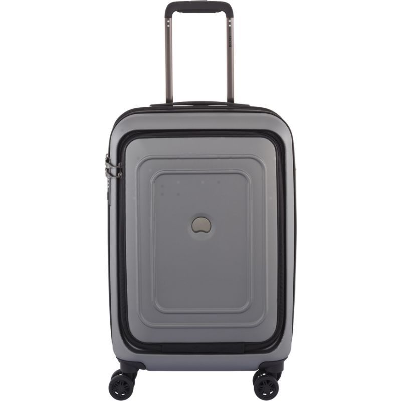 デルシー メンズ スーツケース バッグ Cruise Lite Hard 21 Carry On Exp. Spinner Trolley with Front Pocket Platinum