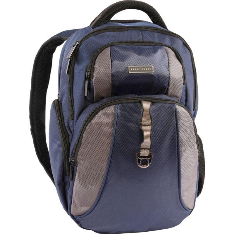 ペリーエリス メンズ スーツケース バッグ P14 Business Laptop Backpack with Tablet Pocket Navy