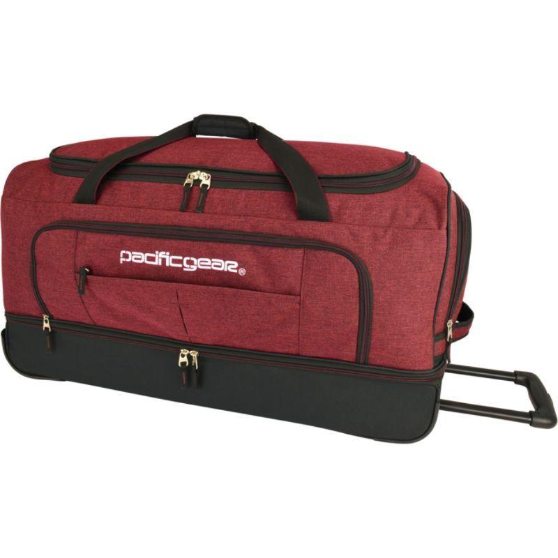 トラベラーズチョイス メンズ スーツケース バッグ Pacific Gear Keystone 30 Drop-Bottom Rolling Duffel Bag Burgundy