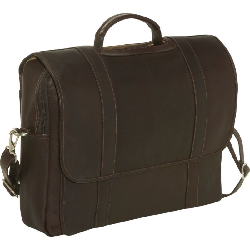 ピエール メンズ スーツケース バッグ Traditional Flap Laptop Portfolio Chocolate