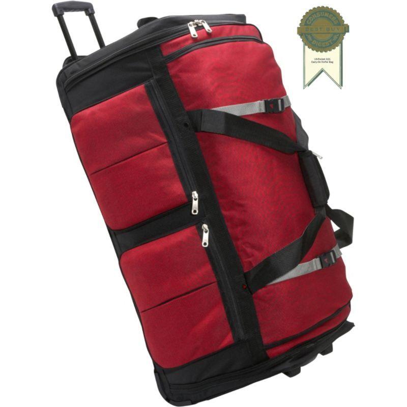 アサロン メンズ スーツケース バッグ 15-Pocket 34Wheeling Duffel Red