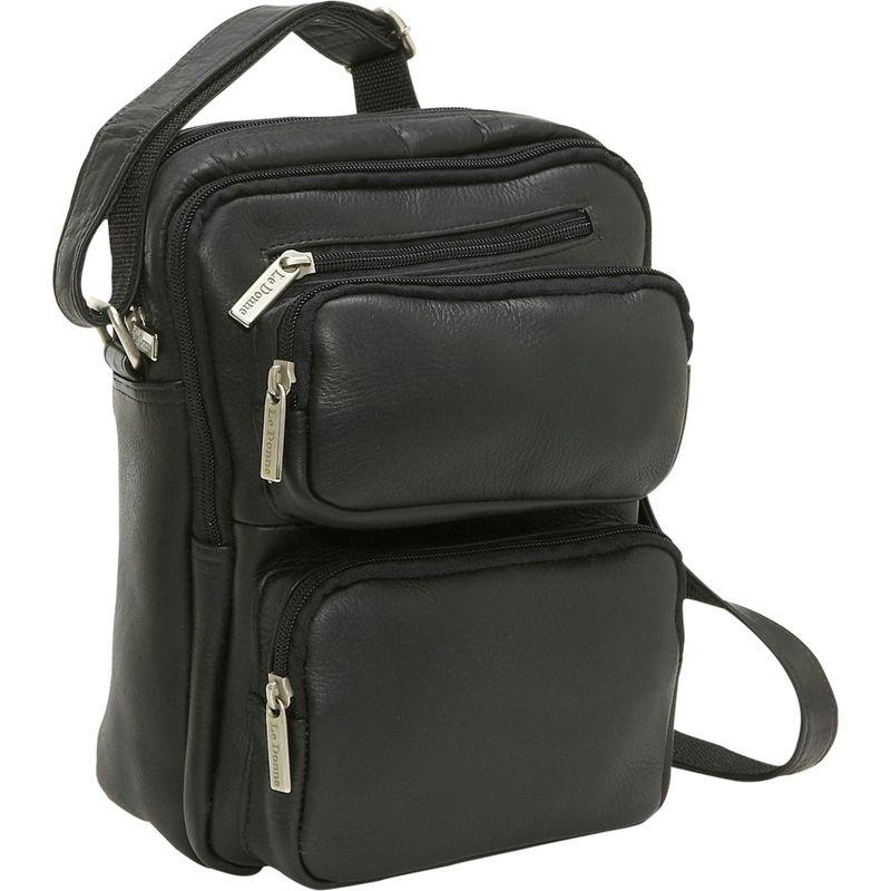 ルドネレザー メンズ ショルダーバッグ バッグ Multi Pocket Mens Bag Black