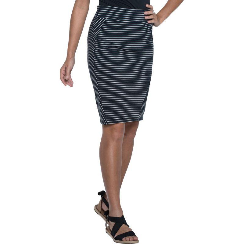 トードアンドコー レディース スカート ボトムス Transita Skirt 21 Inch XS - Black Thin Stripe