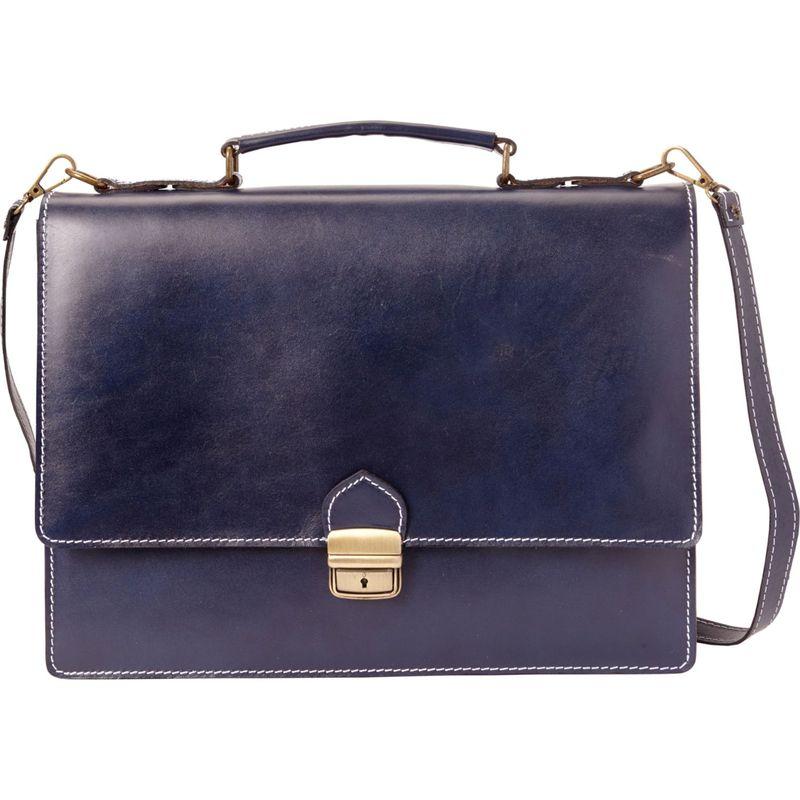 シャロレザーバッグス メンズ スーツケース バッグ Thin Euro Design Laptop Brief Blue