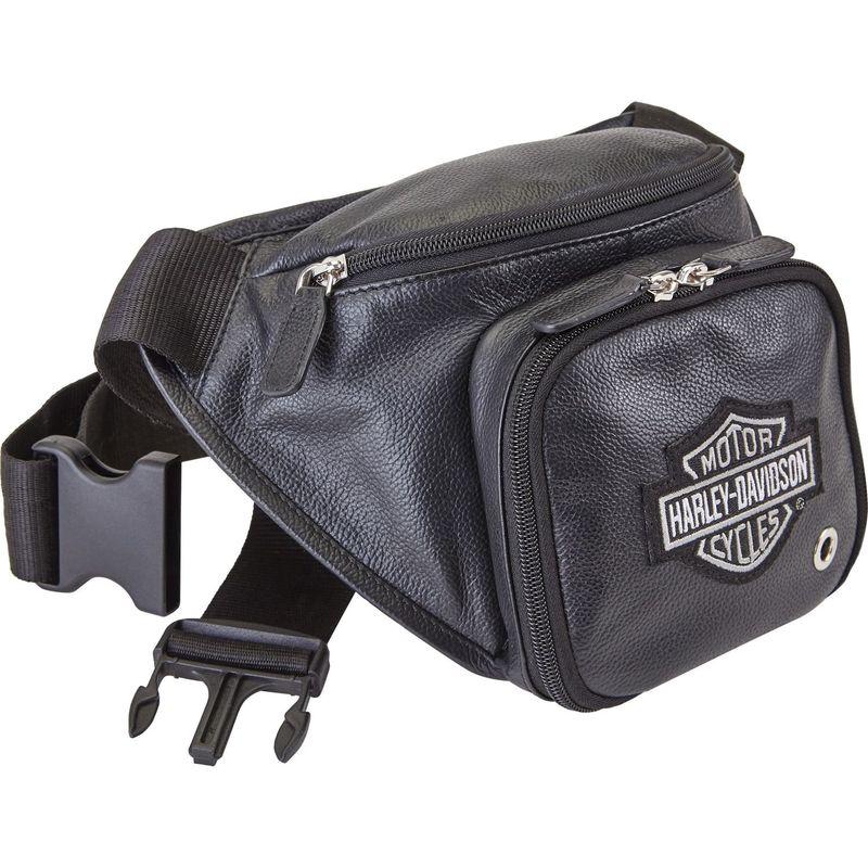 ハーレーダビッドソン メンズ ボディバッグ・ウエストポーチ バッグ Leather Belt Bag Black