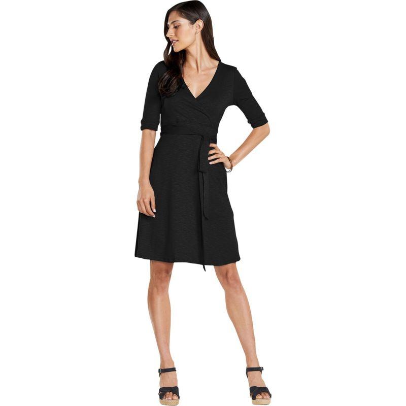 トードアンドコー レディース ワンピース トップス Womens Cue Wrap Cafe Dress XS - Black