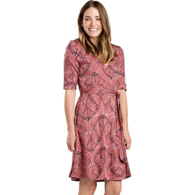 トードアンドコー レディース ワンピース トップス Womens Cue Wrap Cafe Dress XS - Redwood Yard Sale Print
