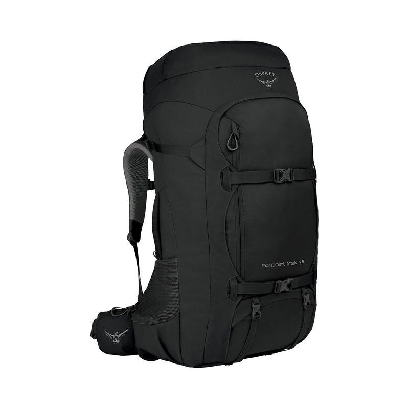 オスプレー メンズ バックパック・リュックサック バッグ Farpoint Trek Travel Pack 75 Black34jLARqc5