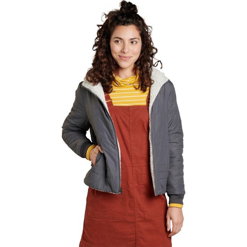 トードアンドコー レディース ジャケット・ブルゾン アウター Womens Telluride Sherpa Jacket XS - Soot