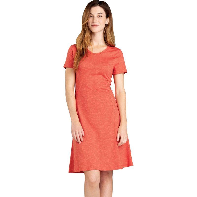 トードアンドコー レディース ワンピース トップス Womens Windmere Short Sleeve Dress XS - Coral Blaze
