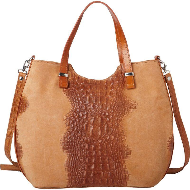 送料無料 サイズ交換無料 シャロレザーバッグス メンズ バッグ ハンドバッグ Apricot シャロレザーバッグス メンズ ハンドバッグ バッグ Alligator Textured Italian Made Leather Tote and Shoulder Bag Apricot
