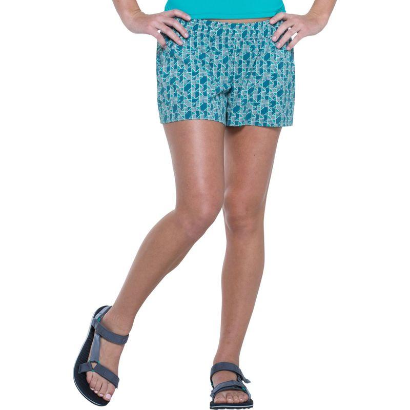 トードアンドコー レディース カジュアルパンツ ボトムス Sunkissed Pull On Short XS - Turquoise Cove Vine Print