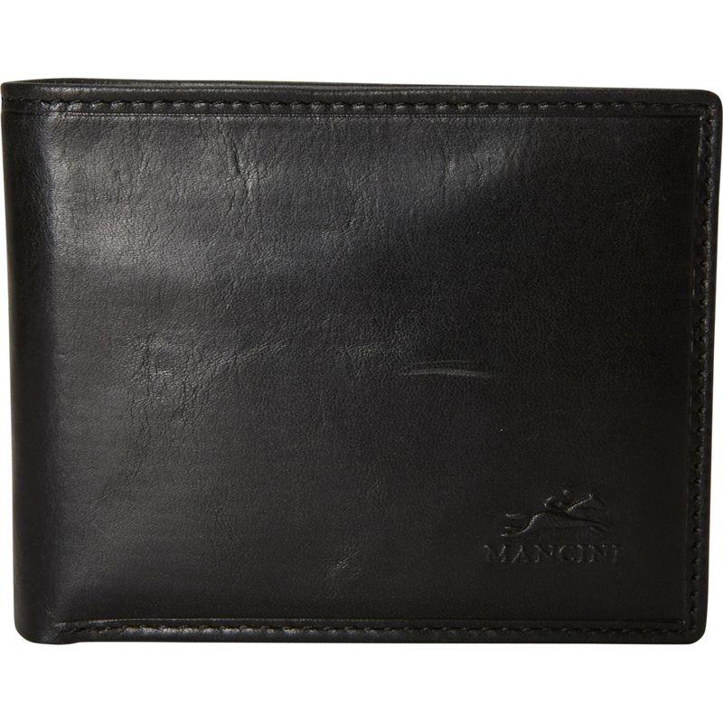 マンシニレザーグッズ メンズ 財布 アクセサリー Men's RFID Secure Wallet with Removable Passcase and Coin Pocket Black
