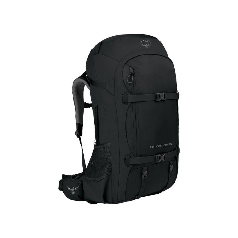 オスプレー メンズ バックパック・リュックサック バッグ Farpoint Trek Travel Pack 55 Black