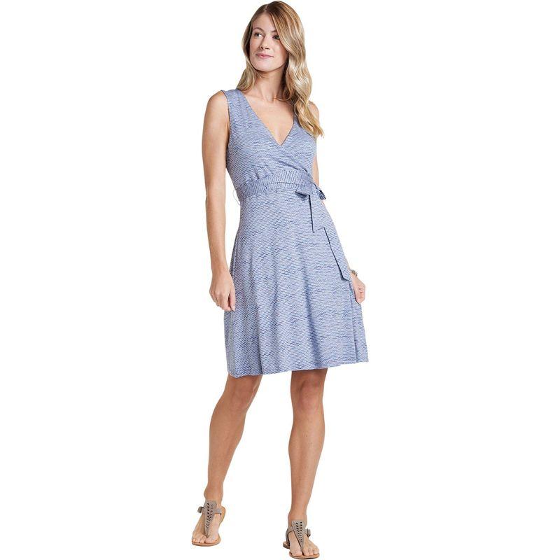 トードアンドコー レディース ワンピース トップス Womens Cue Wrap Sleeveless Dress L - Lilac Wave Print