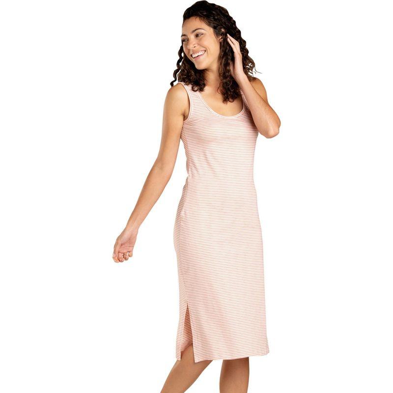 トードアンドコー レディース ワンピース トップス Womens Samba Paseo Midi Dress XS - Pink Sand Mini Stripe