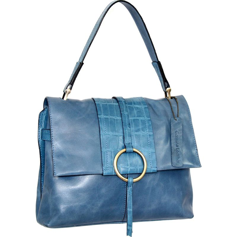 ニノボッシ メンズ ハンドバッグ バッグ Adrianne Satchel Blue