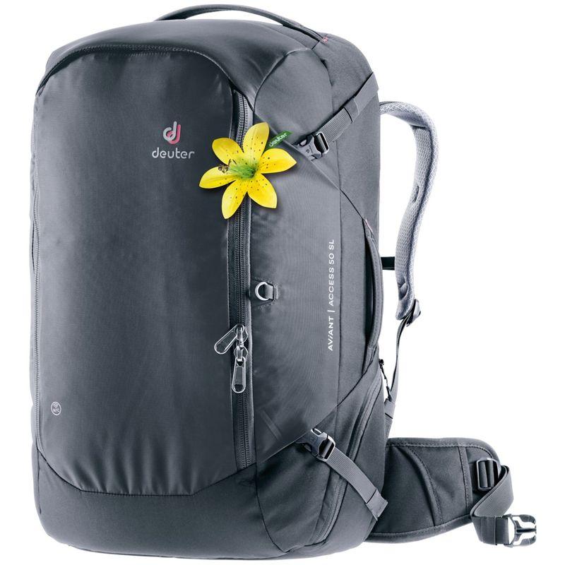 ドイター レディース バックパック・リュックサック バッグ Womens Aviant Access 50 SL Travel Pack Black
