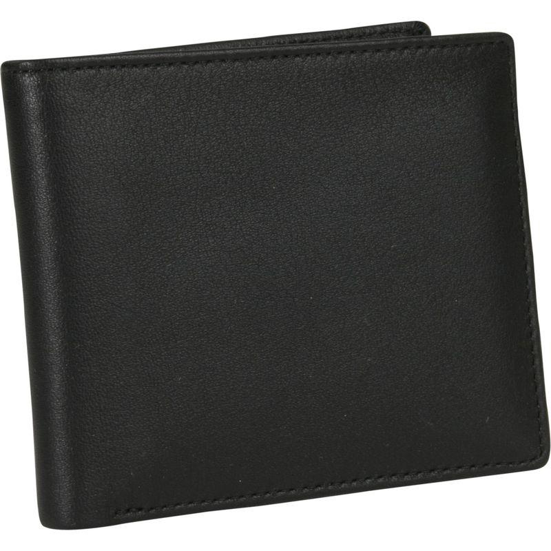 ロイスレザー メンズ 財布 アクセサリー Mens Two-Fold W/Double Id Flap Wallet Black