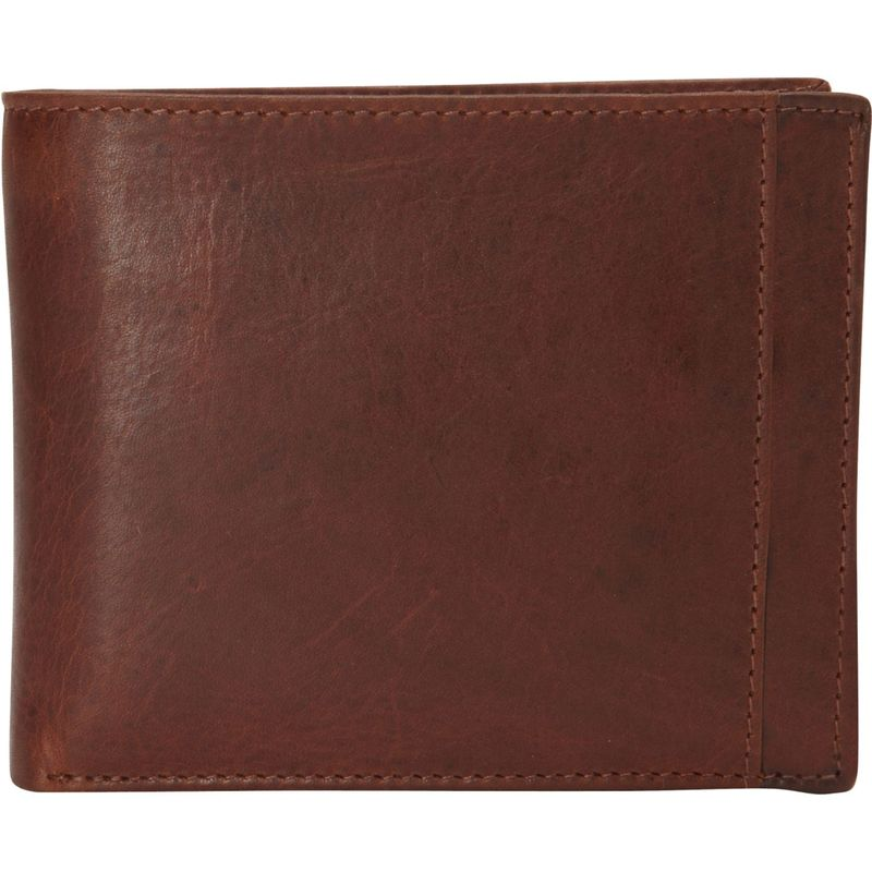 マンシニレザーグッズ メンズ 財布 アクセサリー Casablanca Collection: Men's RFID Billfold Wallet with Removable Passcase Cognac