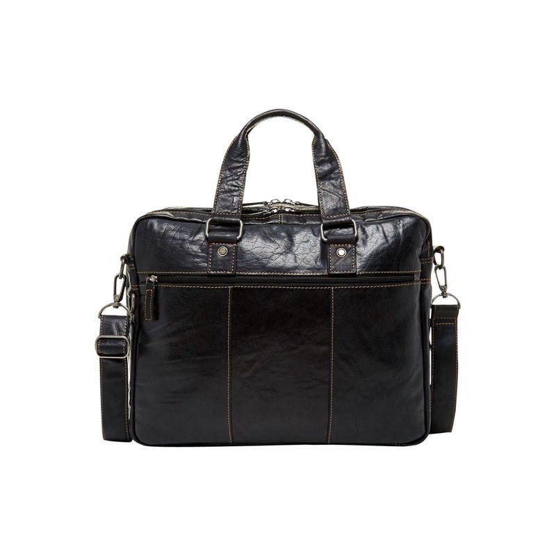 ジャックジョージス メンズ スーツケース バッグ Voyager Large Double Gusset Top Zip Briefcase Black