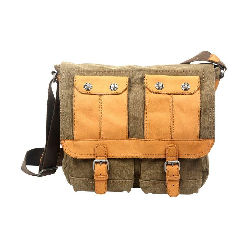 ティエスディー メンズ スーツケース バッグ Valley River Messenger Olive