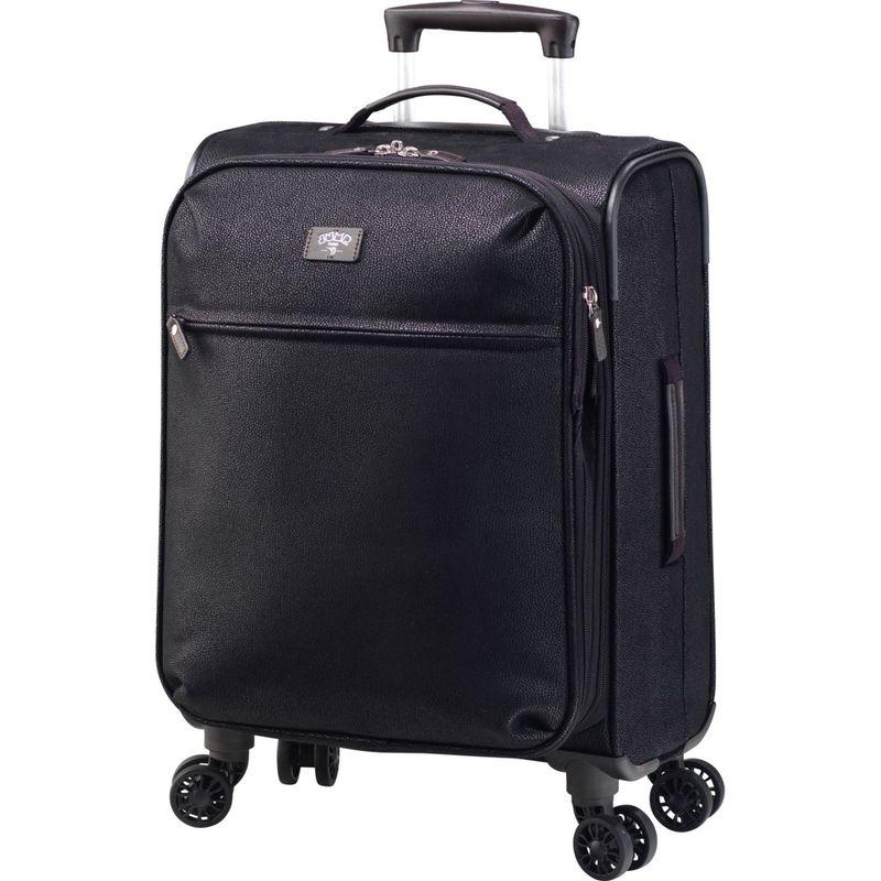 ジャンプ メンズ スーツケース バッグ Solera Expandable Carry-On Spinner Suitcase Black