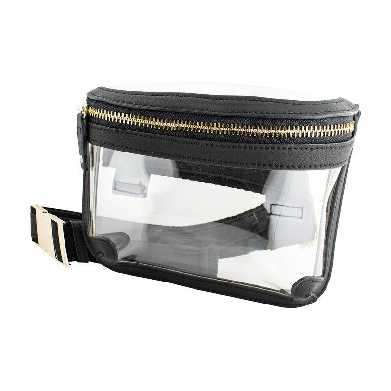 カプリデザイン メンズ ボディバッグ・ウエストポーチ バッグ Belt Bag Clear/Black