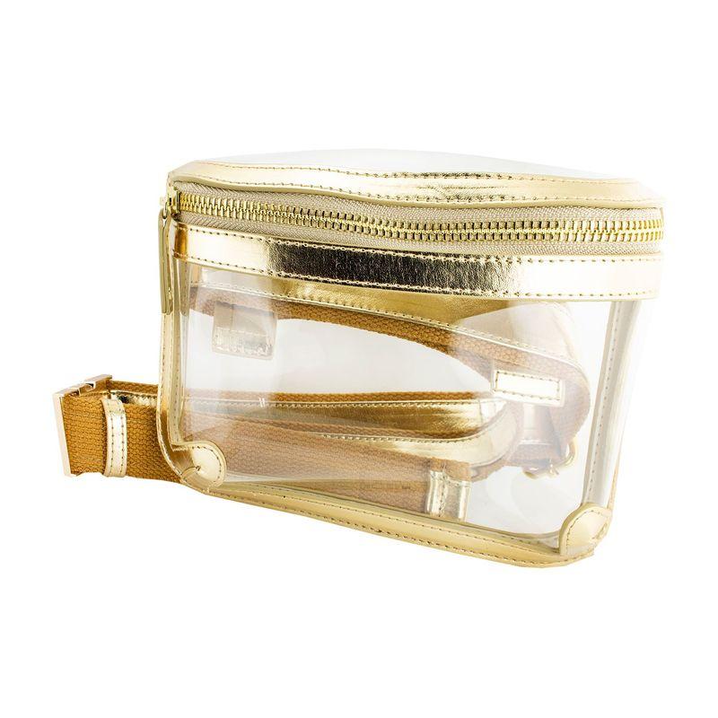 カプリデザイン メンズ ボディバッグ・ウエストポーチ バッグ Belt Bag Gold Metalic