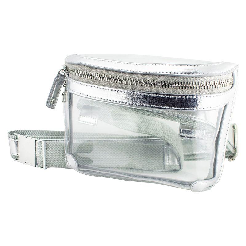 カプリデザイン メンズ ボディバッグ・ウエストポーチ バッグ Belt Bag Silver Metalic