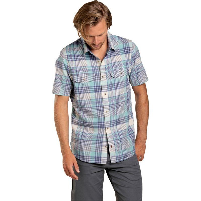 トードアンドコー メンズ シャツ トップス Hookline Short Sleeve Shirt S - Aquifer