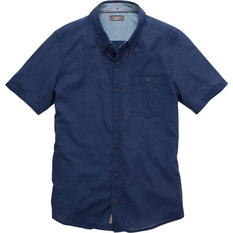 トードアンドコー メンズ シャツ トップス Mens Mattock Short Sleeve Slim Shirt M - Medium Indigo Solid