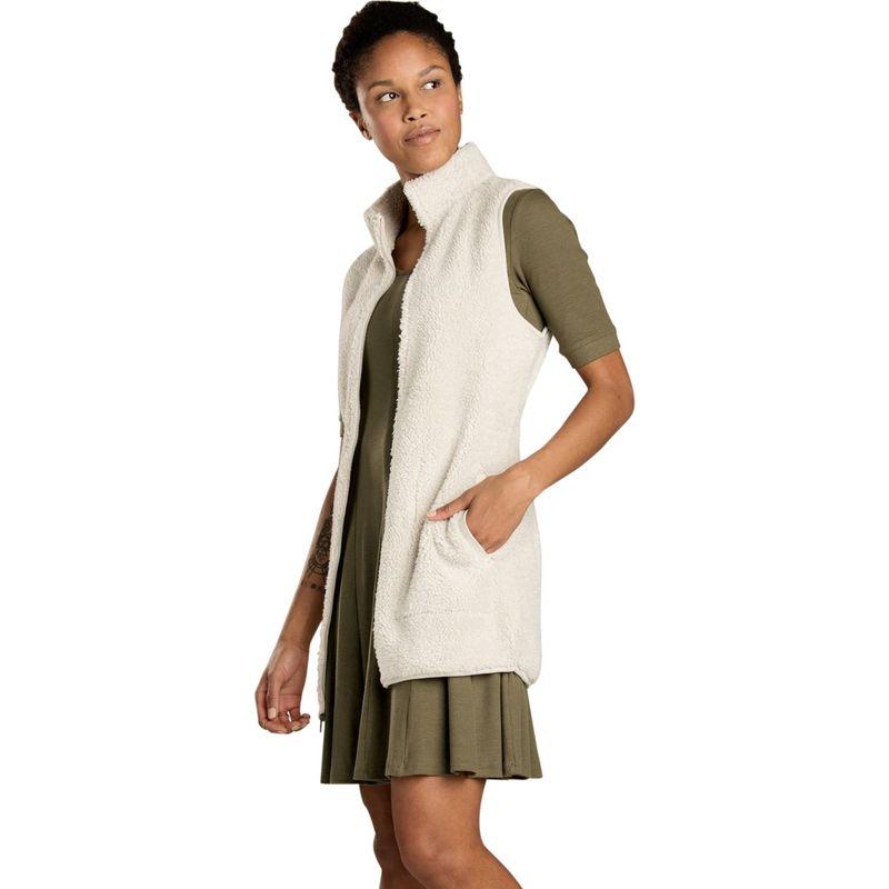 トードアンドコー レディース ジャケット・ブルゾン アウター Womens Allie Fleece Vest XS - Oatmeal