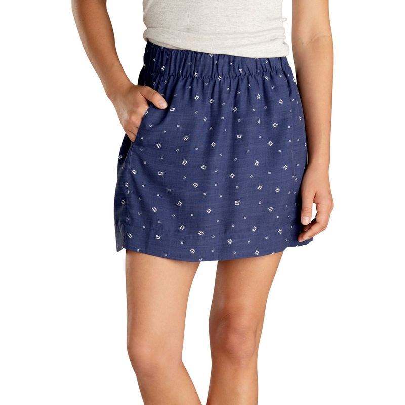 トードアンドコー レディース スカート ボトムス Womens Hillrose Skirt S - Blue Shadow Fern Print