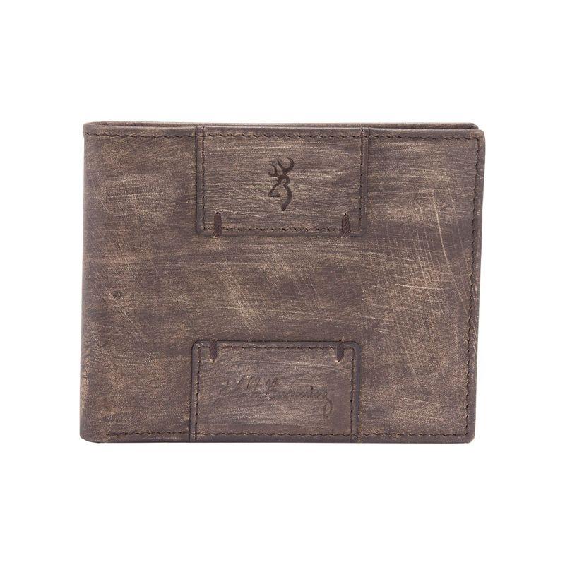 ブロウニング メンズ 財布 アクセサリー Heritage Bi-Fold Brown Woodgrain