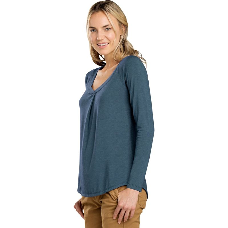 トードアンドコー レディース シャツ トップス Womens Alisal Long Sleeve Top XS - Blue Wing Teal